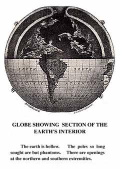 mappamondo che mostra la terra interna e le aperture dei poli