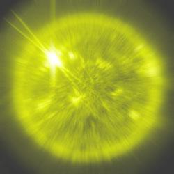 bolla che espande luce ovunque