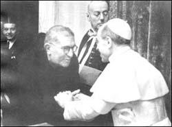 padre ernetti con Papa Pio XII