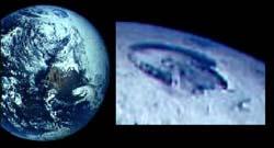 Polo nord con buco visibile