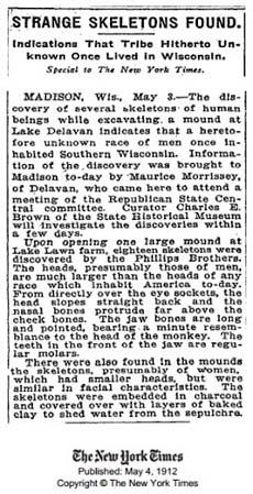 Articolo pubblicato il 4 maggio 1912 sul New York Times