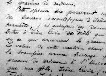 Grafia di di Marie Curie