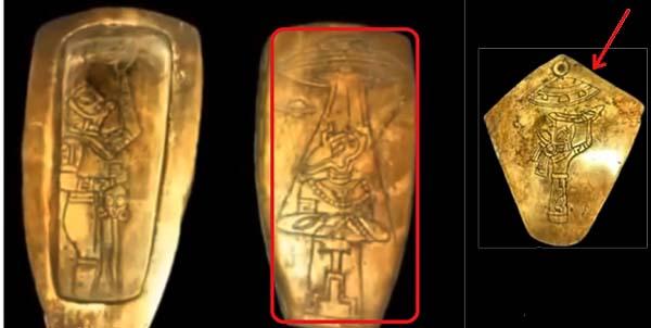 Serie di manufatti maya con alieni