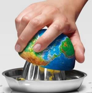 Depredare le risorse del pianeta