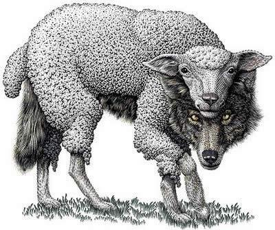 Image result for lupo travestito agnello