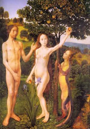 Adamo ed Eva col serpente