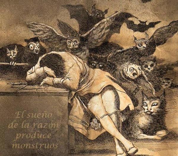 """""""El sueño"""", acquaforte di Goya"""