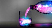 Acqua blu solarizzata