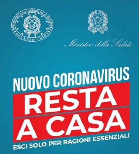 """Coronavirus: """"Resta a casa"""", il video messaggio del governo per ..."""