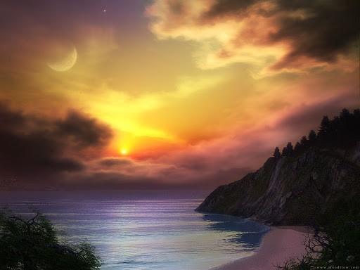 Sfondi e Wallpaper desktop Paesaggi sfondi paesaggio con tramonto ...