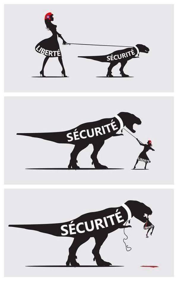 Vignetta : libertà e sicurezza e Parigi ( e altrove)