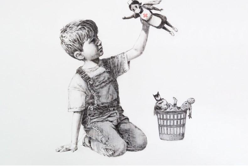 Game Changer, l'opera di Banksy per medici e infermieri | Collater.al
