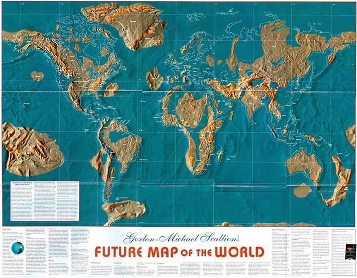 "Gordon Michael Scallion's ""Future Map of the World"" | Map, World map, Future earth"
