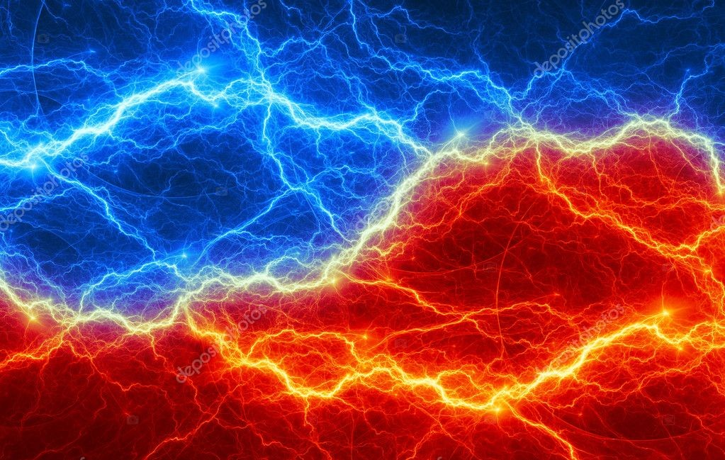 Abstract fire and ice lightning — Stock Photo © cappa #38298099