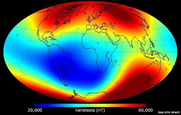 Campo magnetico terrestre, la costellazione di satelliti Swarm ne registra la variazione - Verascienza